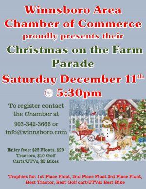 Christmas on the Farm Christmas Parade